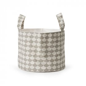 Littlephant Soft basket, Waves, grey/grey, mellan